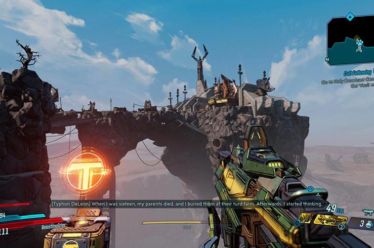 Игра в Borderlands 3