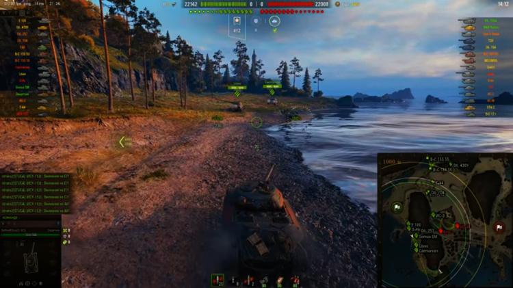 Игра на поле в World of Tanks