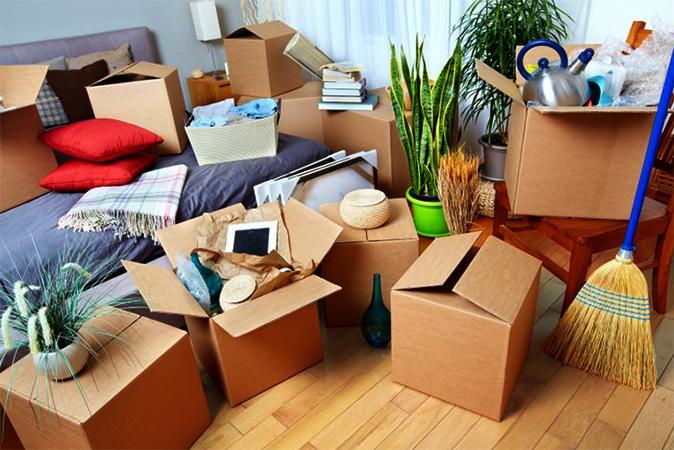 Коробки и вещи для переезда