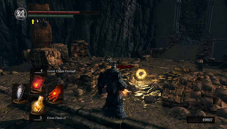 Персонаж из игры «Dark Souls Remastered»