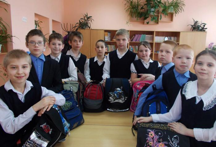 Счастливые российские школьники