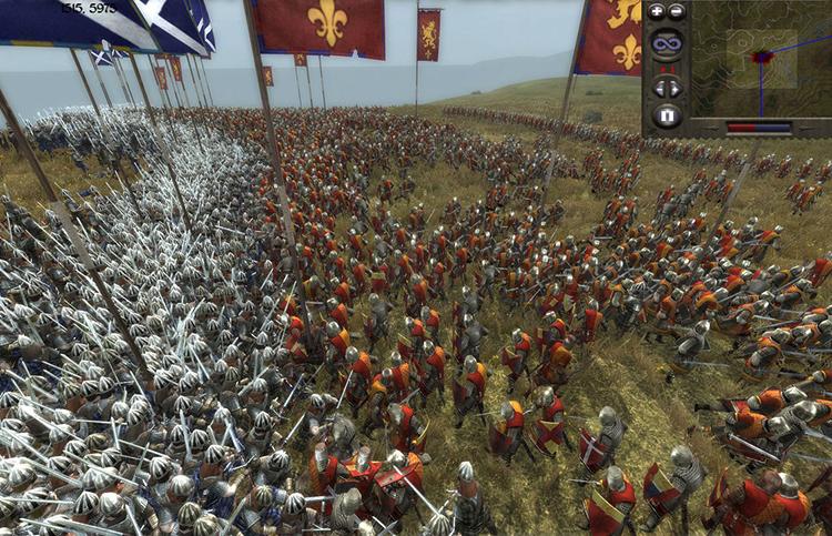 Сражение в игре Medieval II: Total War