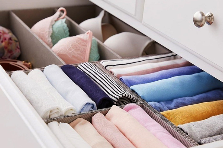 Хранение одежды в шкафу