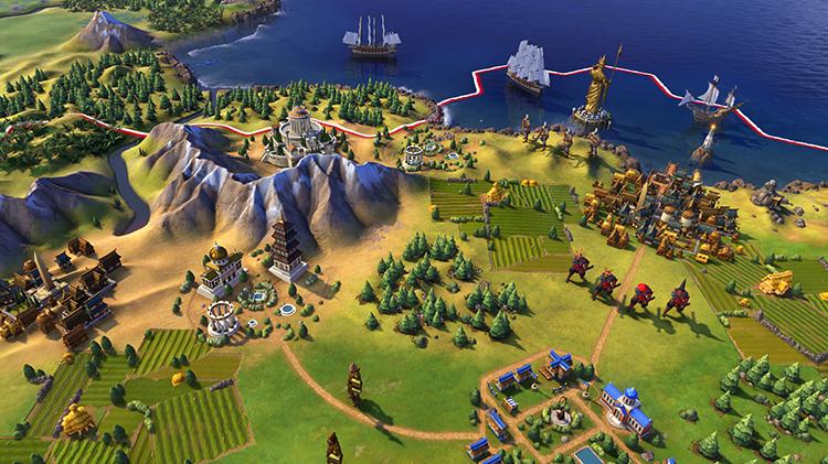 Игра в Civilization 6
