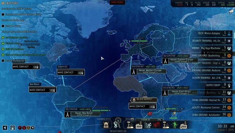 Карта игры XCOM 2