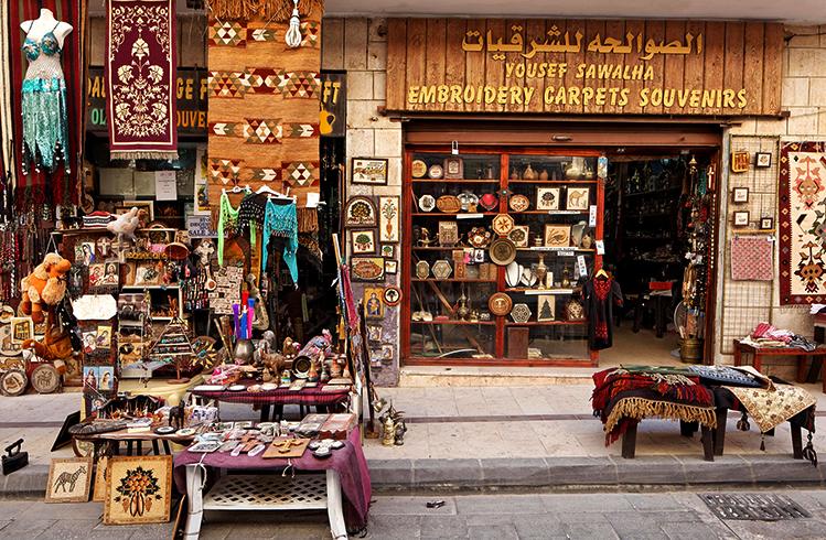 Сувенирный магазин в Иордании