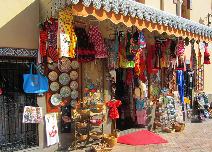 Сувенирный магазин в Испании