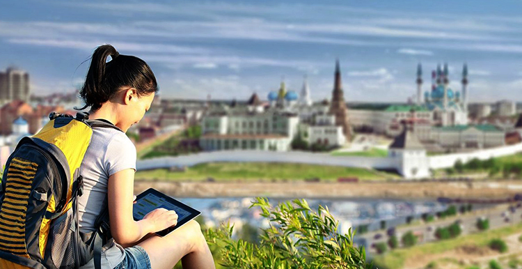 Иностранный турист в Казани
