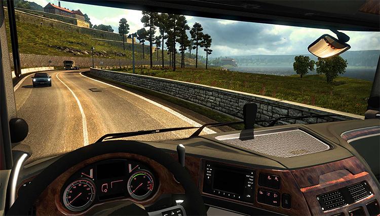 Во время игры в Euro Truck Simulator 2