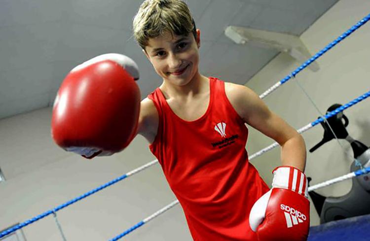 Начинающий боксер