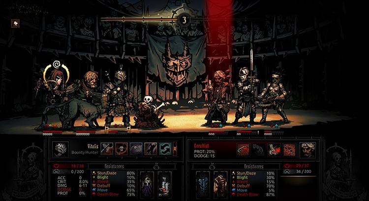 Игра в Darkest Dungeon