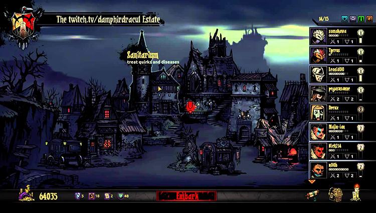Деревня в игре Darkest Dungeon