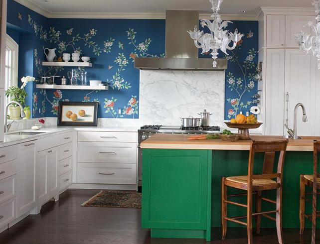 Кухня красивого цвета и дизайна