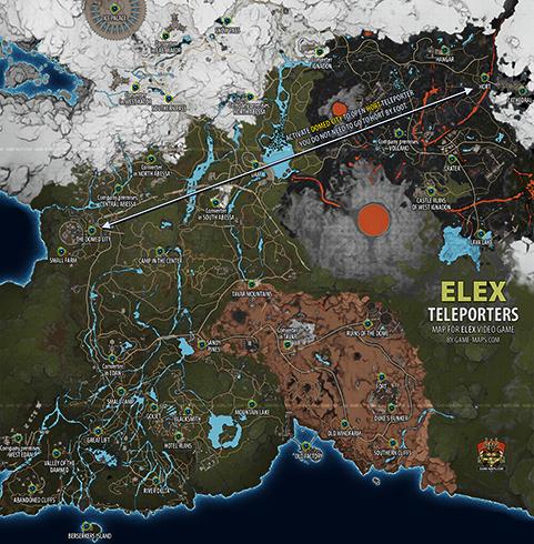 Карта в Elex