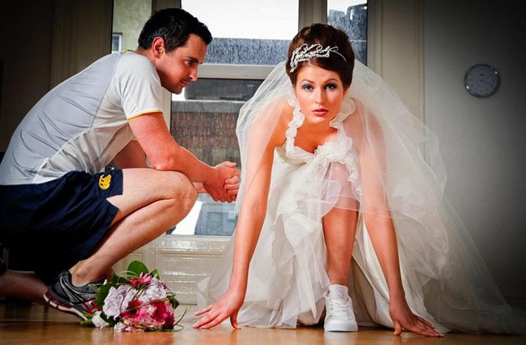 Жених и невеста перед свадьбой