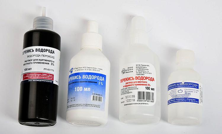 Разные производители перекиси водорода
