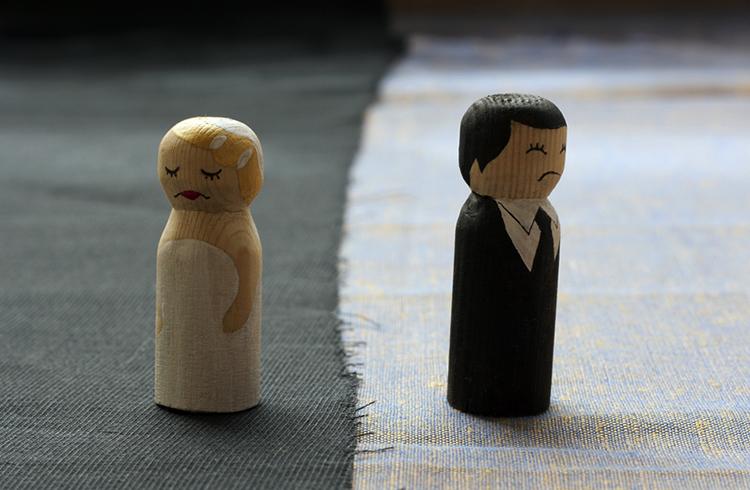 Расставание мужа и жены