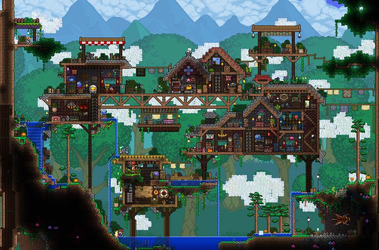 Деревня в Terraria