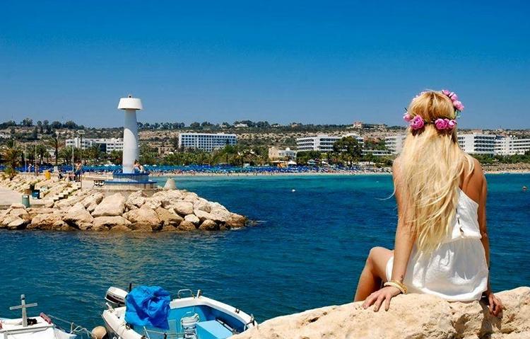 Турист на Кипре