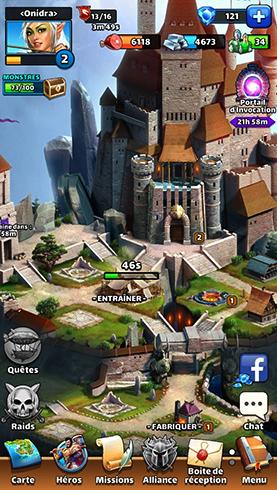 Замок в игре Empires & Puzzles