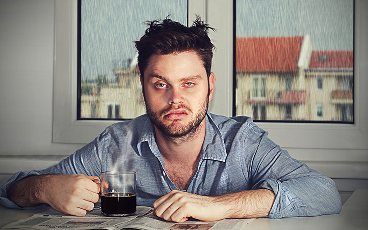 Мужчина после праздников