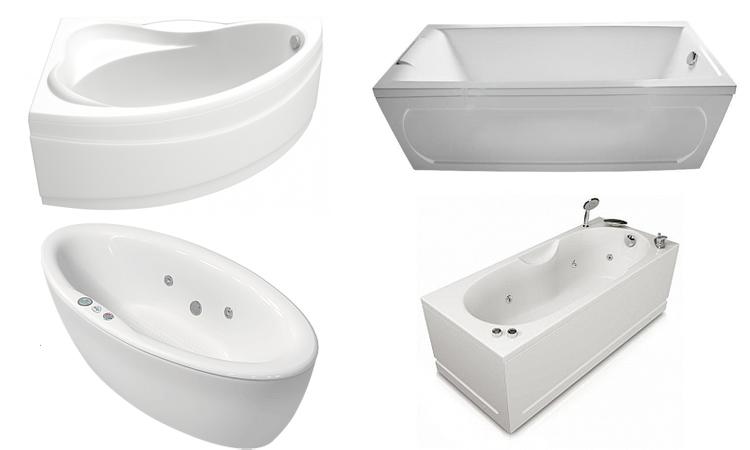 Разные акриловые ванны